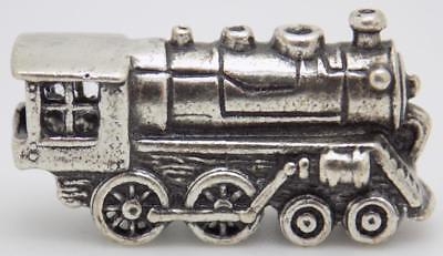 Vintage Sterling Silver 925 Italian Made Locomotive Train Miniature, Stamped