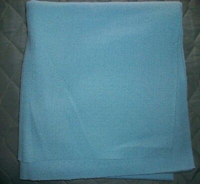 Vintage Baby Blue Dress Wool & Matching Si Bonne Lining