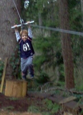 100' Zip Line Kit, Trolley, Cable Ride, High Quality Zipline, 11th Year on Ebay!