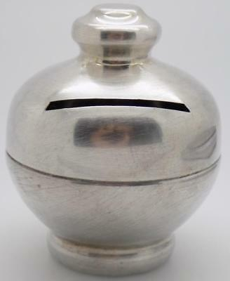 Vintage Solid Silver Italian Made Small Money Piggy Bank / Box, Stamped