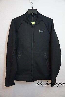 NWT Nike Therma Sphere Max Training Jacket Dry Fit 800229-010 Volt Black Large