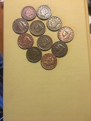 1816,1817,1819,1826,1835,1837,1844,1847,1848,1849 Large Cents A Lot Of History