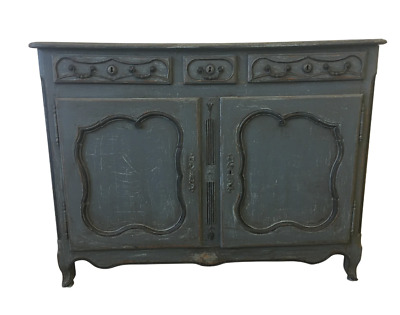 18th Century French Antique Painted Sideboard Buffet