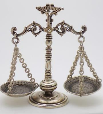 Vintage Solid Silver Italian Made Libra / Scale Miniature, Figurine, Stamped