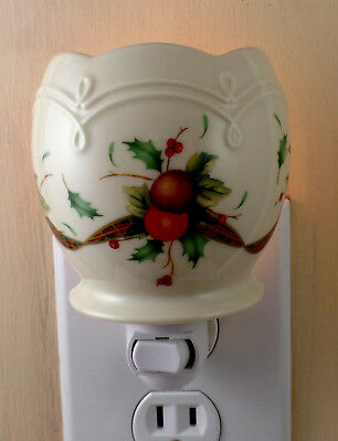 Lenox HOLIDAY TARTAN Ivory China With Gold Trim Custom Made Night Light