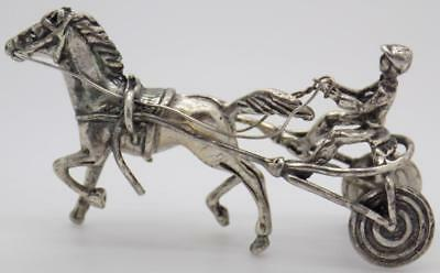 20g/0.7oz. Vintage Solid Silver Italian Made Racing Horse Figurine, Stamped