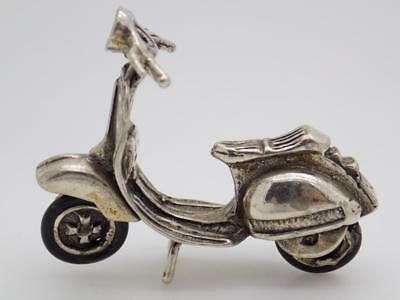 Vintage Solid Silver Italian Made Vespa Scooter Miniature, Figurine, Stamped
