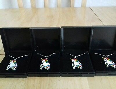 Job Lot Of 4  NEW  NECKLACES UNICORNS Boxed Necklaces