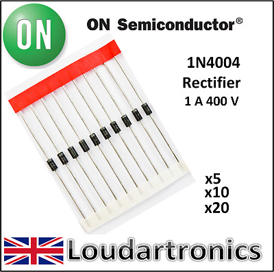ON Semiconductors 1N4004 1 Amp 400 Volt Rectifier Diode