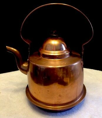 Antique Leksand Hand Made Copper Kettle Made In Sweden Teapot