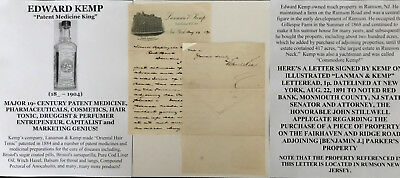 Patent Medicine King Pharmaceuticals Cosmetics Tonic Drugs Letter Signed 1891 Vf