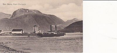 """MacBrayne Steamer PS """"Pioneer"""" berthed Corpach Ben Nevis Canal FORT WILLIAM"""