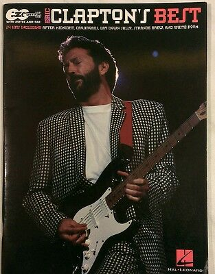 Eric Clapton's Best - vocal, piano & guitar songbook