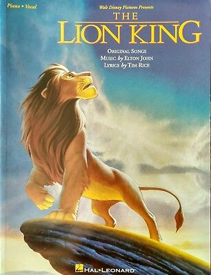 The Lion King (Walt Disney) - Piano, Voice & Guitar music songbook