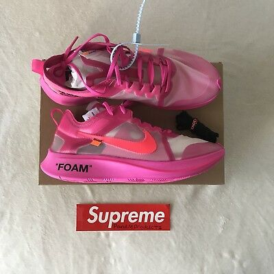 12bd41e01774 NIKE ZOOM FLY X Off-White Tulip Pink   Racer Pink UK 10 US 11 EU 45 ...