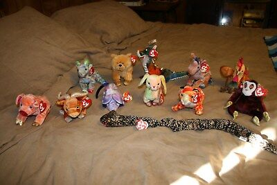 TY Beanie Babies set of 12 Chinese Zodiac all with tags