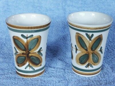 Pair Of Rye Cinque Ports Pottery Vases.
