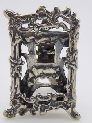 Vintage Solid Silver Italian Made Frame Miniature, Figurine, Stamped*
