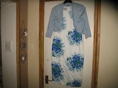 Ladies Floral Dress and Matching Bolero by Hobbs Size 8 - WEDDING