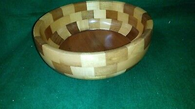 Vintage Mid Century Cambridgeware Wooden Fruit Bowl #2