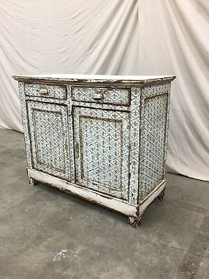 18th C French Painted Buffet With Fleur De Lis Motif
