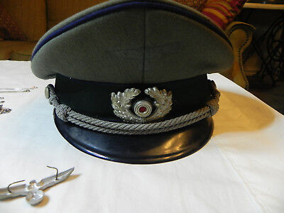 WWII German Medical Officer's Hat with upper pin
