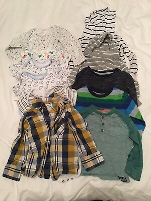 Baby boys clothes bundle 12-18 months Next Baby Gap Primark Long Sleeve Tops