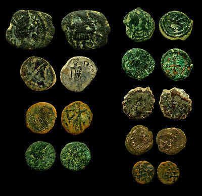 Lot 9 small bronze coins of the Vandals