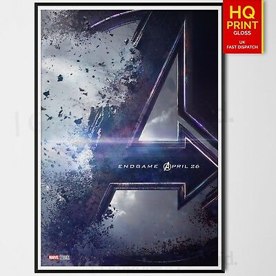Avengers 4 End Game Movie Marvel Art Poster Print | A4 A3 A2 A1 |