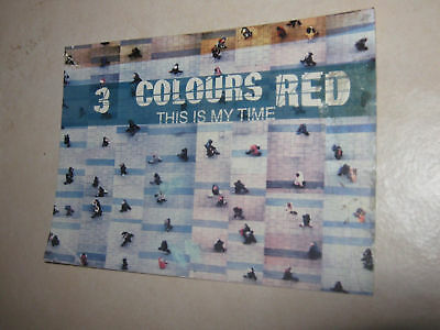 Three 3 Colours Red postcard This is my Time pop Rock music collector souvenir