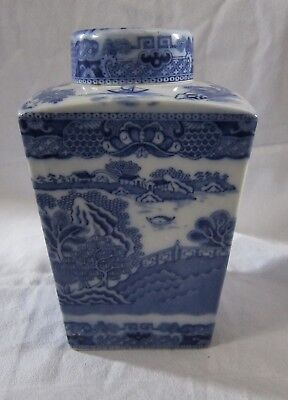 ORIGINAL Ringtons Tea Caddy Ginger jar Willow pattern 1920s or 1930s