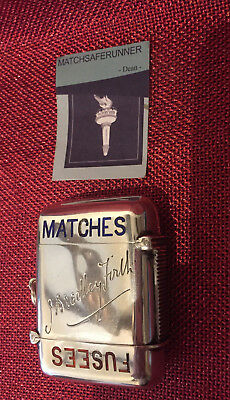 Silver & Enamel Fusees Matches 1904 George Unite Vesta Case Match Safe Striker