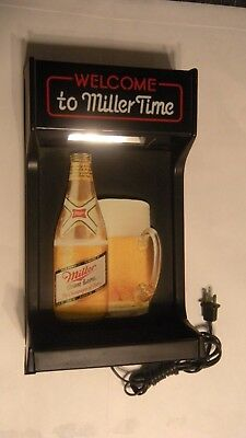 Welcome To Miller Time Lighted Beer Sign