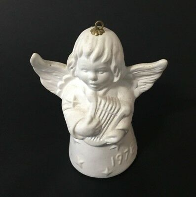Goebel West Germany Bone China Collectible Angel playing Harp 1978 Ornament Bell