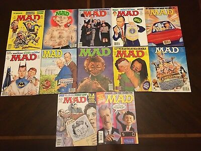 Vintage MAD Magazine Lot of 12 issues from 1992-1999