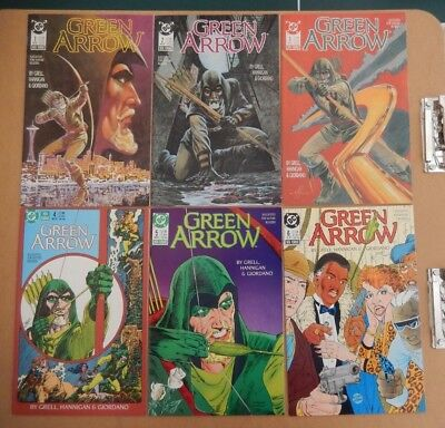Green Arrow #1, 2, 3, 4, 5, 6 Mike Grell Dick Giordano 1988