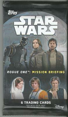 2016 Topps Star Wars Rouge One Mission Briefing Guaranteed Patch/Auto Hot Pack