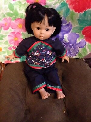 Toyse Oriental Doll - Made In Spain -16 Inches Tall