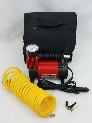 NICE SuperFlow 12V Portable Tire Inflator Compressor 120psi 15A w/Air Hose & Bag