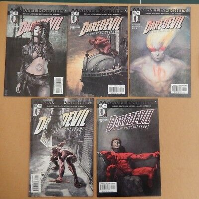 Daredevil #46, 47, 48, 49, 50 Hardcore Story Typhoid Mary Kingpin Bendis VF/NM