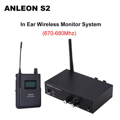 ANLEON S2 6 CH Wireless UHF Stereo Monitor System Headphones Stage 670 - 680Mhz