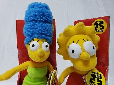 The Simpsons Plush Collectible Plush Dolls Mother Daughter Set, Lisa and Marge