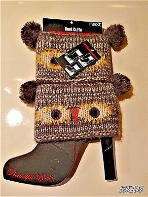 *QUAINT*  Knitted Boot Cuffs For Women & Girls By Next from the U.K. *BRAND NEW*