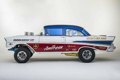"""Decals - 57 Chevy gasser, """"All American"""". Beautiful!"""