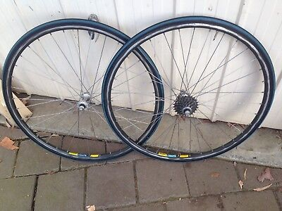 Racing Wheels (Mavic) 25 Inch  F & R  New Continental Sport Tyres _Shimano Gears