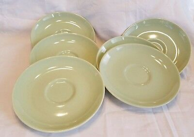 Set Of 6 Russel Wright Mid Century Modern Iriquois Saucers-Lettuce Green