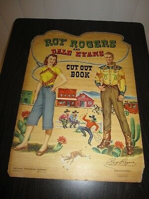 Vintage 1950 Rare Roy Rogers Dale Evans Punch Cut Out Paper Dolls Book 998 - 10