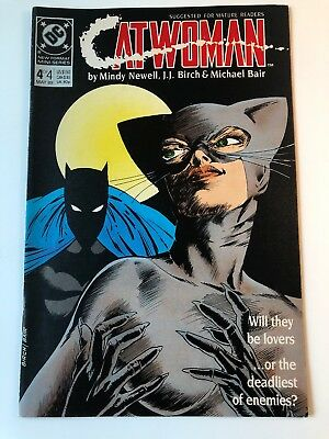 1989 DC Comics Catwoman #4 of 4 Issue Miniseries For Mature Readers
