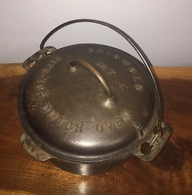 Antique Griswold Size Med/ Small No.7 Lid #2603 Cast Iron- Baster Dutch Oven