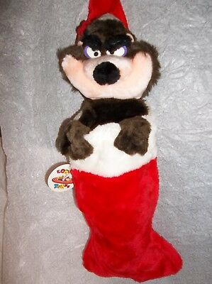 Looney Tunes Tasmanian Devil Christmas Stocking Vintage With Tags